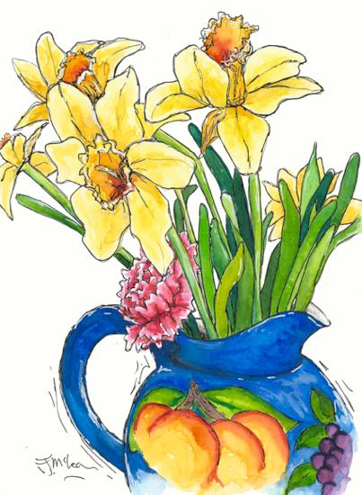 Daffodils In Jug
