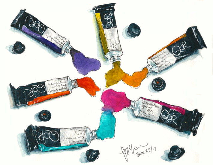 QOR Watercolors (High Chroma Set)