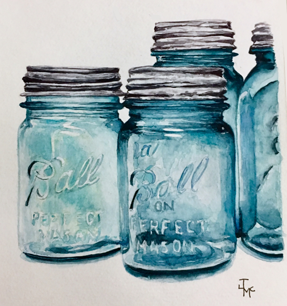 Painting Ball Jars On Harmony | Just Add Water Silly